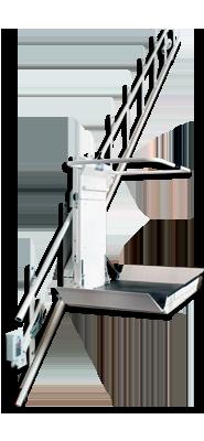 plataforma salvaescalera recta